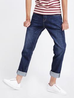 Quần Jeans Ống Đứng Xanh Đen QJ1518