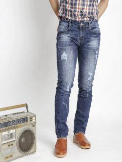 Quần Jeans Skinny Rách Xanh Đen QJ1529