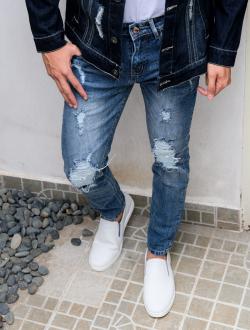 Quần Jeans Rách Xanh QJ1573