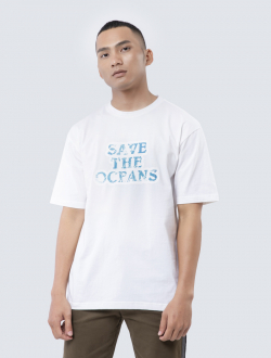 Áo Thun In Save The Oceans AT837 Màu Trắng