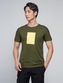 Áo Thun In Hình Vàng AT031 Màu Rêu