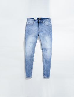 Quần Jeans Xước Form Regular QJ018 Màu Xanh
