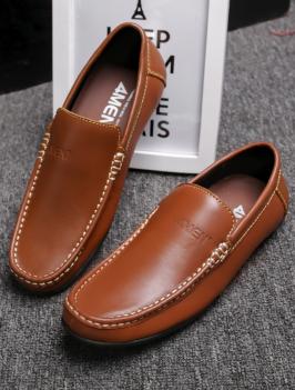 Giày Mọi Da Màu Bò G76