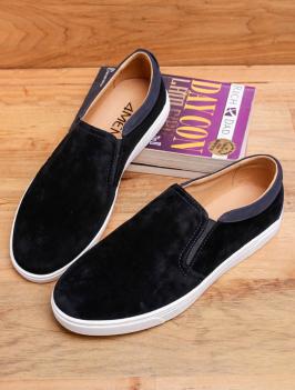 Giày Mọi Đen Viền Trắng G96