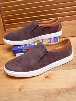 Giày Mọi Nâu Viền Trắng G96