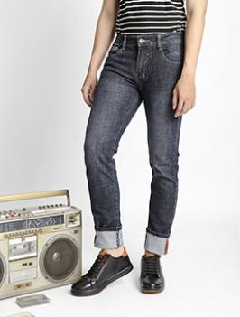 Quần Jeans Ống Đứng Xanh Đen QJ1525