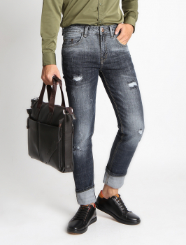 Quần Jeans Skinny Rách Xanh Đen QJ1528