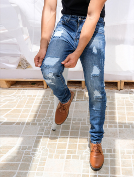 Quần Jeans Rách Xanh Đen QJ1563