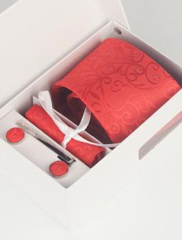 Hộp Cà Vạt Sọc Đỏ HCV0006