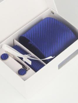Hộp Cà Vạt Sọc Xanh Đen HCV0005