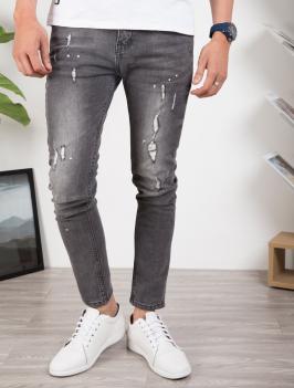 Quần Jeans Rách Xám QJ1637