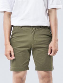 Quần Short Kaki Phối Sọc Rêu 190