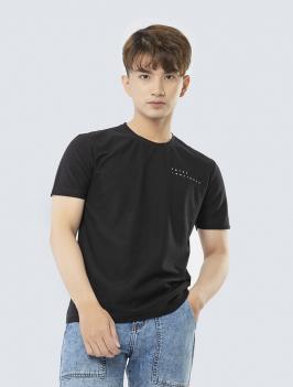 Áo Thun Regular Lưng In Hình AT843 Màu Đen