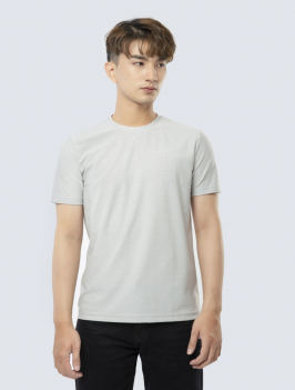 Áo Thun Regular Lưng In Hình - Xám 843