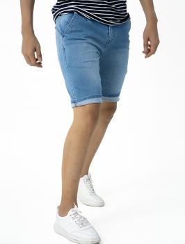 Quần Short Jean Lưng Thun QS202 Màu Xanh Biển