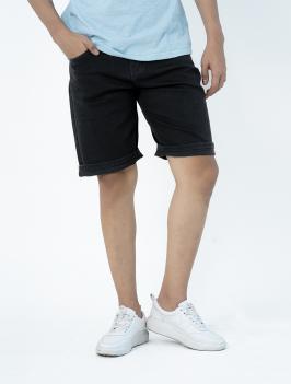 Quần Short Jean Form Regular QS001 Màu Đen