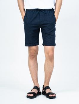 Quần Short Linen Lưng Thun QS004 Màu Xanh Đen
