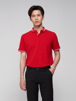 Áo Polo Bo Phối PO006 Màu Đỏ