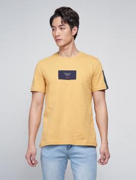 Áo Thun Phối Đắp AT032 Màu Vàng