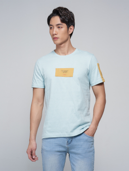 Áo Thun Phối Đắp AT032 Màu Xanh Ngọc