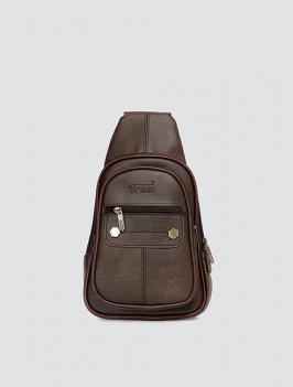 Túi đeo chéo dây kéo ngang NÂU TX008