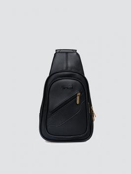 Túi đeo chéo dây kéo xéo ĐEN TX006