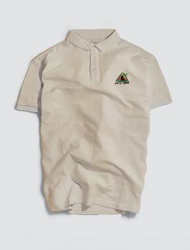 Áo Polo Thêu Icon Màu Be PO037