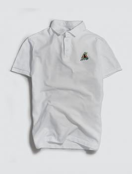 Áo Polo Thêu Icon Màu Trắng PO037