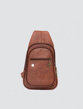 Túi đeo chéo dây kéo ngang BÒ TX008
