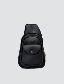 Túi đeo chéo có nắp ĐEN TX007