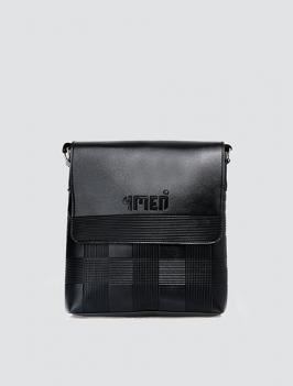Túi đeo chéo dập hoa văn đen TX004