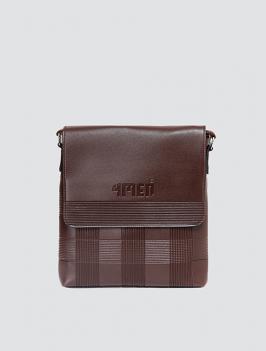 Túi đeo chéo dập hoa văn nâu TX004