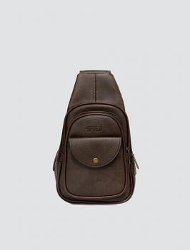Túi đeo chéo có nắp NÂU TX007