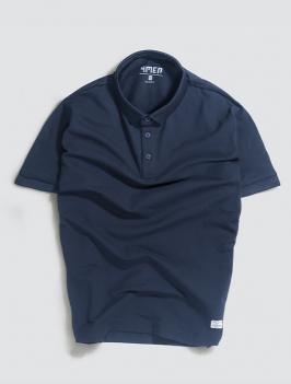 Áo Polo Gắn Nhãn Màu Xanh Đen PO028