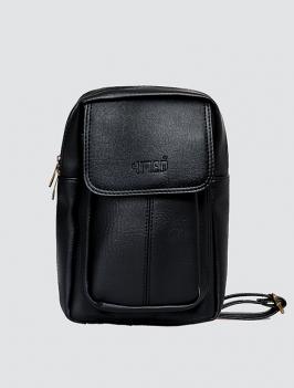 Túi đeo chéo có túi nhỏ màu đen TX009