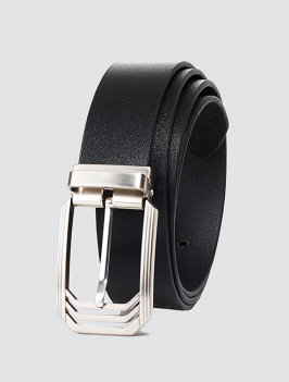 Thắt lưng đầu kim da trơn màu đen TL059