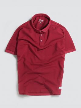 Áo Polo Gắn Nhãn Màu Đỏ PO028