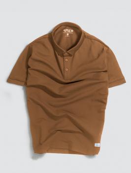 Áo Polo Gắn Nhãn Màu Nâu PO028