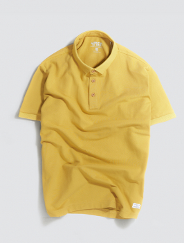 Áo Polo Gắn Nhãn Màu Vàng PO028