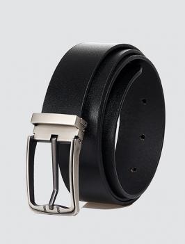 Thắt lưng đầu kim da trơn màu đen TL063