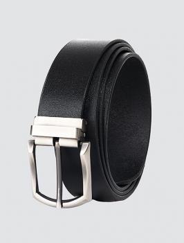Thắt lưng đầu kim da trơn màu đen TL064