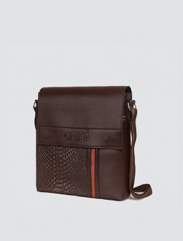 Túi đeo chéo phối dây sọc nâu TX002